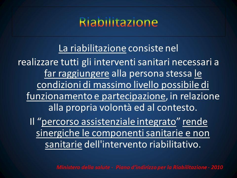 In Toscana 57,8 % di soggetti riabilitati Fonte Agenzia Regionale sanità Toscana Aprile 2012