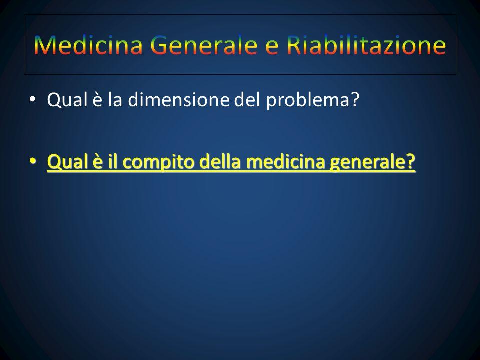 Come il MMG viene a conoscenza del problema? Quali sono i suoi compiti nella riabilitazione?