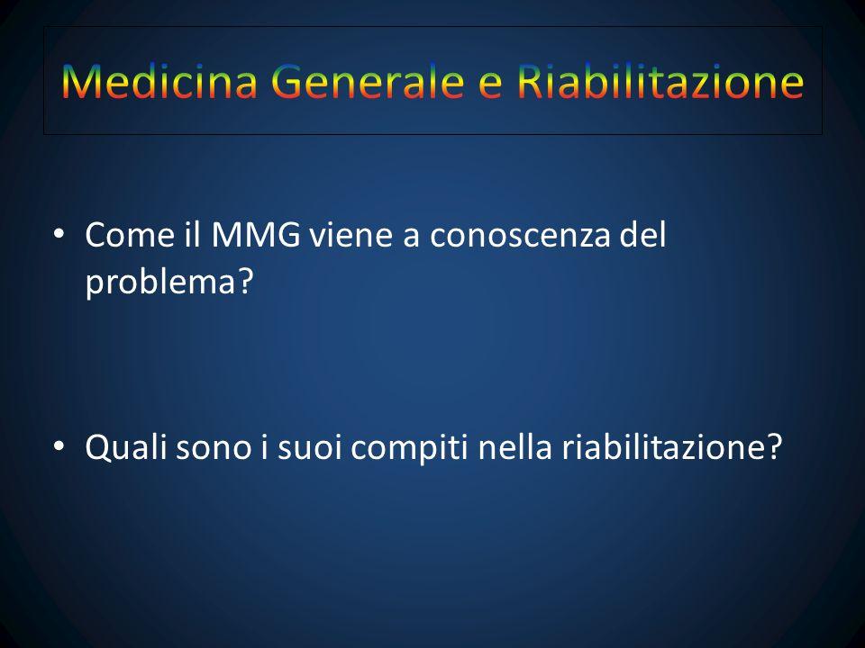 Come il MMG viene a conoscenza del problema.Come il MMG viene a conoscenza del problema.