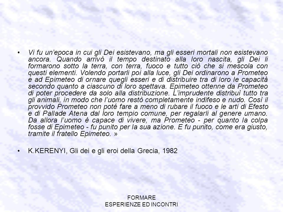 FORMARE ESPERIENZE ED INCONTRI A.