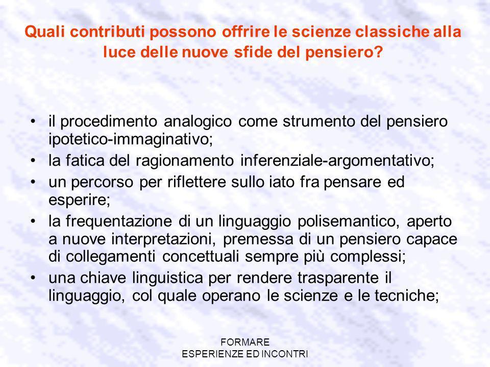 FORMARE ESPERIENZE ED INCONTRI 2.