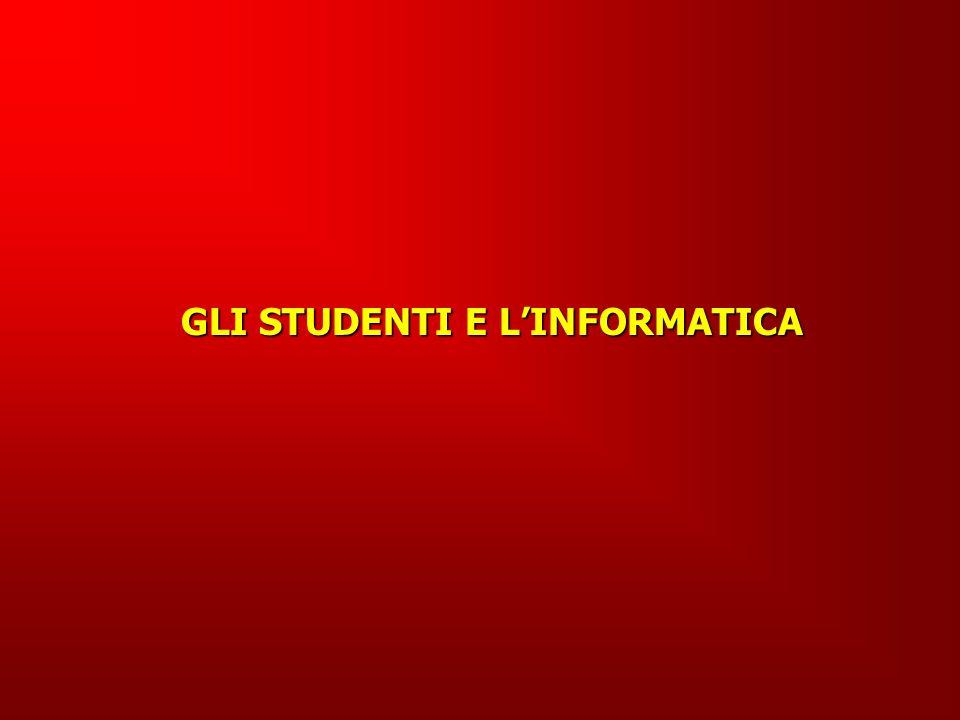 GLI STUDENTI E LINFORMATICA