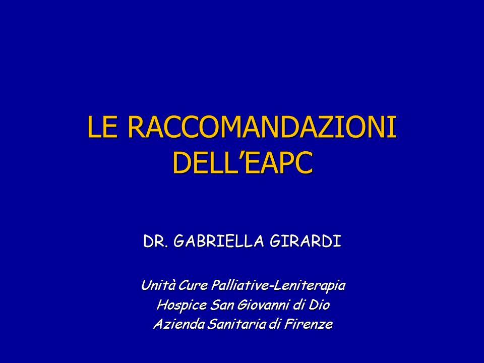 LE RACCOMANDAZIONI DELLEAPC DR.