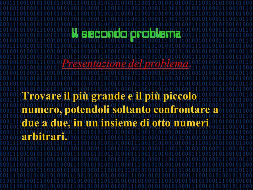 Il secondo problema Presentazione del problema.
