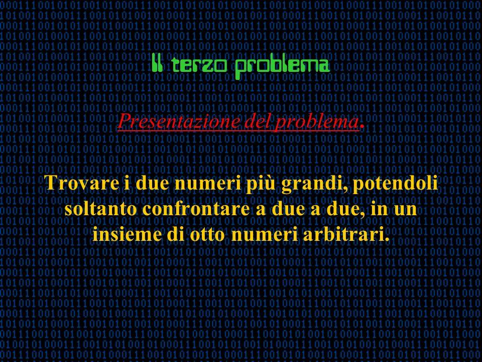 Il terzo problema Presentazione del problema.