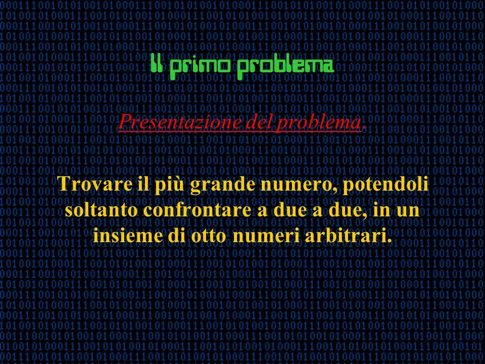 Il primo problema Presentazione del problema.
