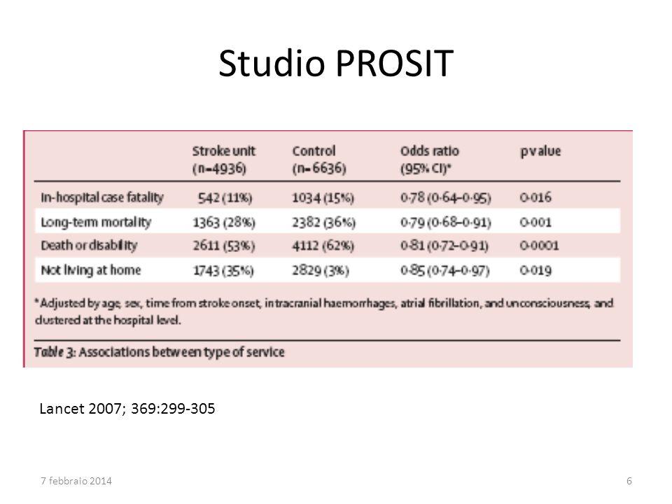 Studio PROSIT Lancet 2007; 369:299-305 7 febbraio 20146
