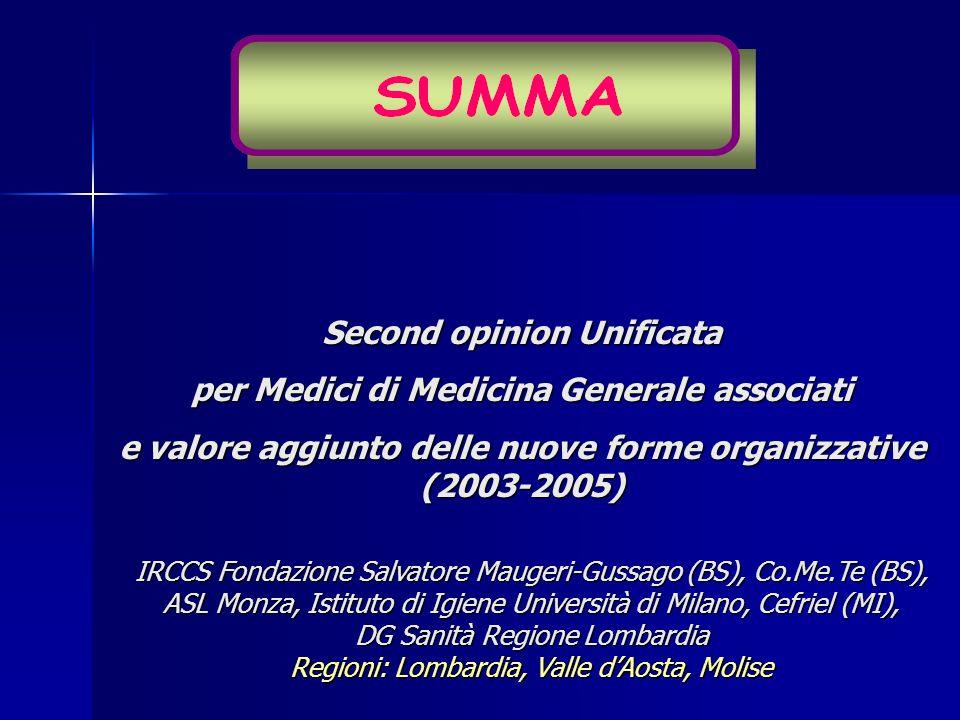 IRCCS Fondazione Salvatore Maugeri-Gussago (BS), Co.Me.Te (BS), ASL Monza, Istituto di Igiene Università di Milano, Cefriel (MI), DG Sanità Regione Lo