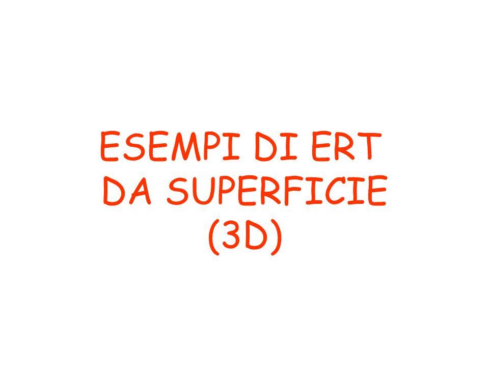 ESEMPI DI ERT DA SUPERFICIE (3D)