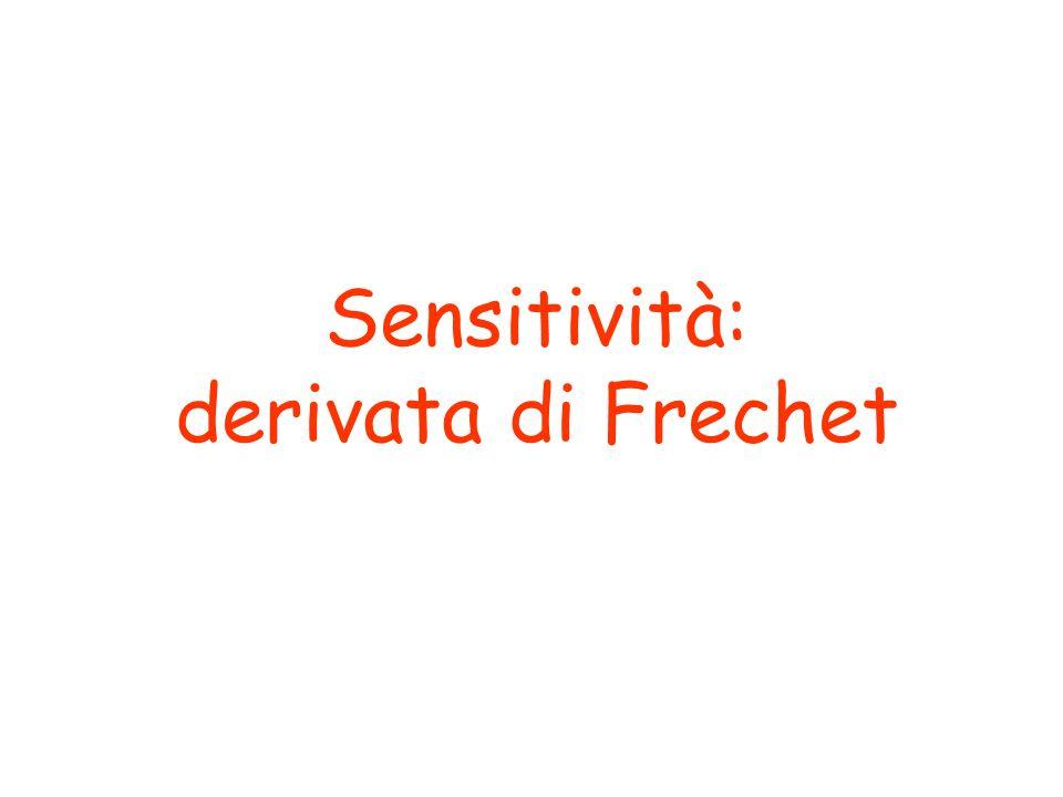 Sensitività: derivata di Frechet