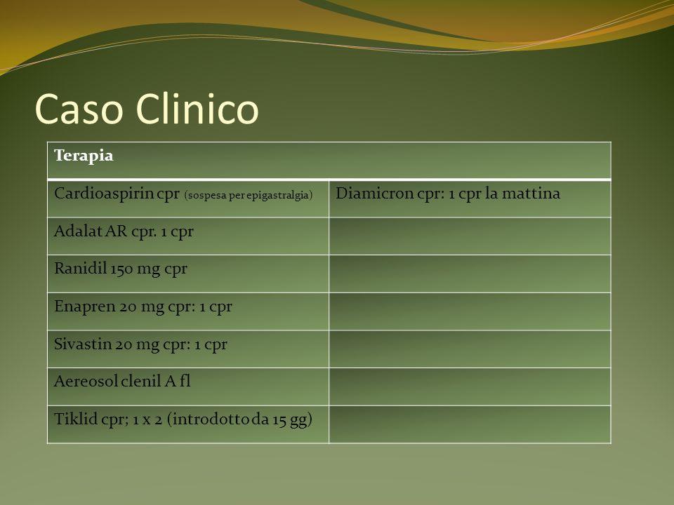 Caso Clinico Anamnesi patologica prossima febbre malessere generale con astenia intensa.
