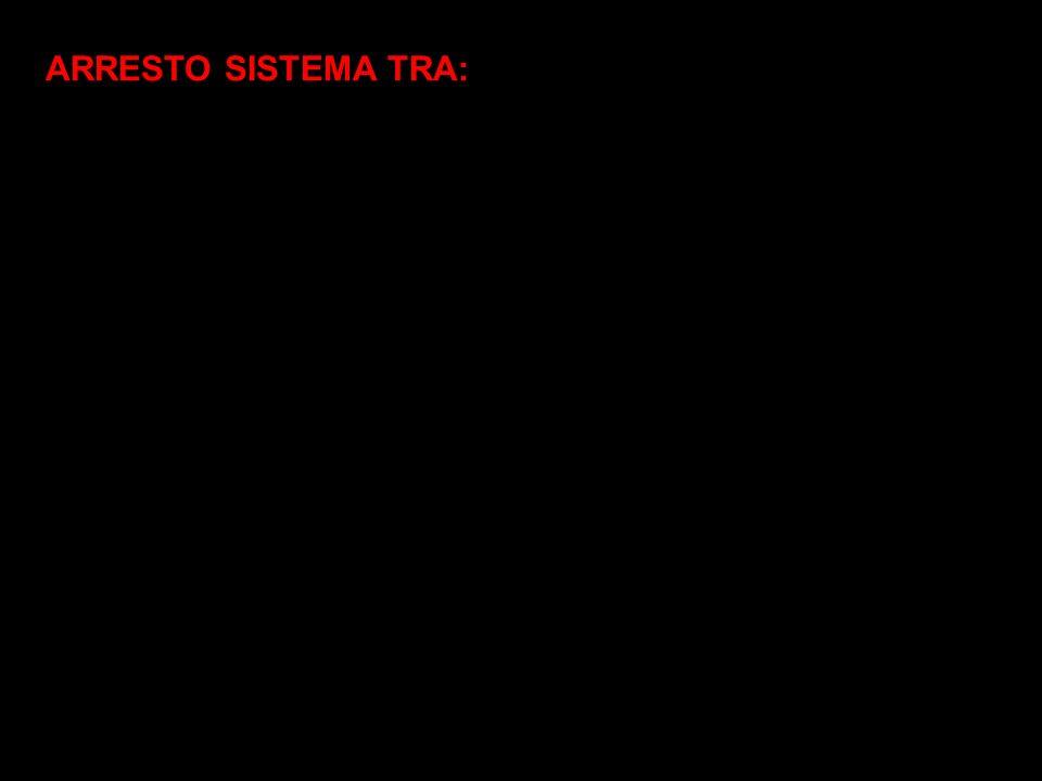 ARRESTO SISTEMA TRA: