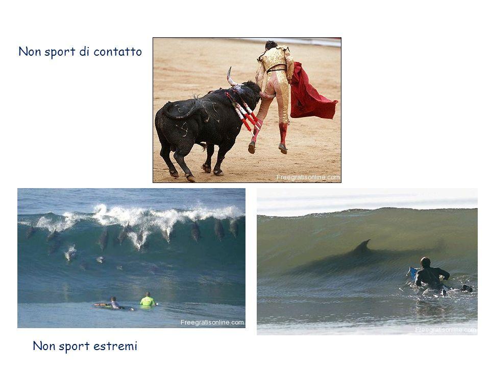 Non sport di contatto Non sport estremi