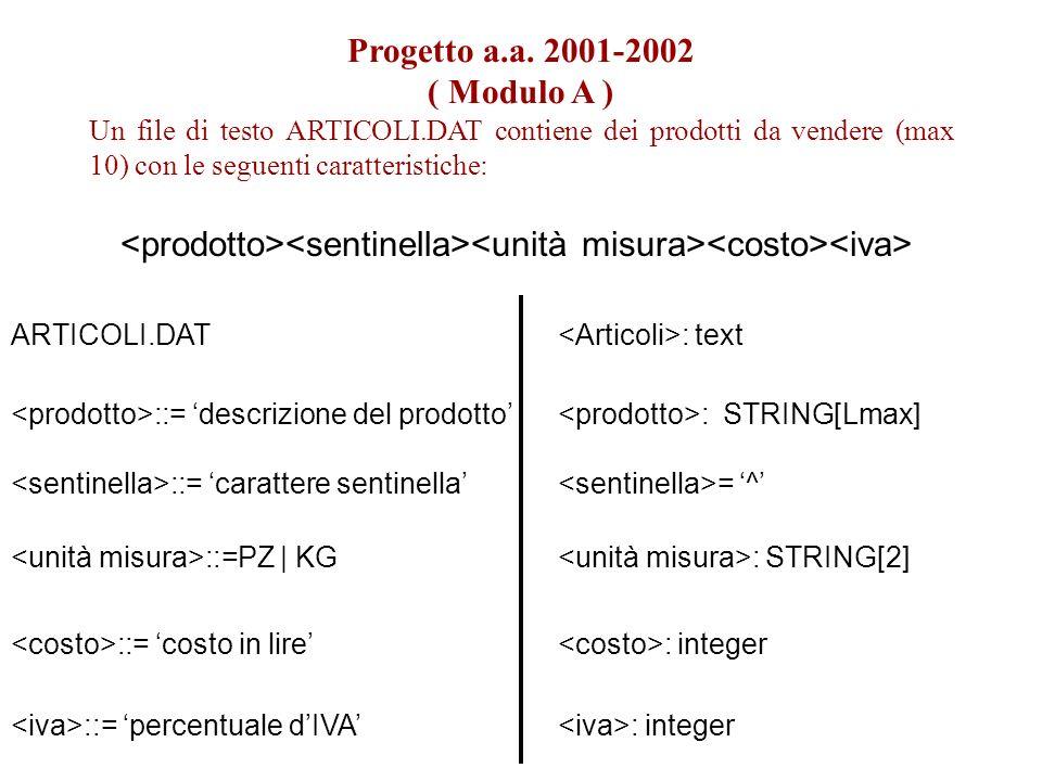 Progetto a.a.