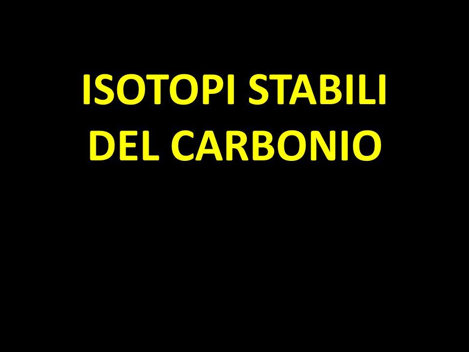 Da sempre si raccolgono dati isotopici relativi al Carbonio, poichè per misurare il 18 O si utilizza CO 2 e lo spettrometro misura simultaneamente il δ di ambedue gli elementi.