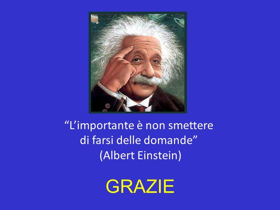 Limportante è non smettere di farsi delle domande (Albert Einstein) GRAZIE