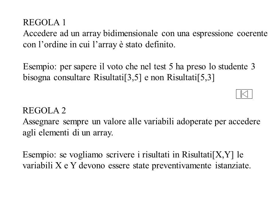 FUNCTION MediaCorso(VAR Risultati: ArrayRisultati; NumTest, TotaleStudenti: integer): real; {calcola la media dei voti degli studenti del corso dato il test} VAR StudenteNo, SommaVoti: integer; BEGIN SommaVoti:=0; FOR StudenteNo=1 TO TotaleStudenti DO SommaVoti=SommaVoti+Risultati[StudenteNo,NumTest]; MediaCorso:=SommaVoti/ TotaleStudenti END;