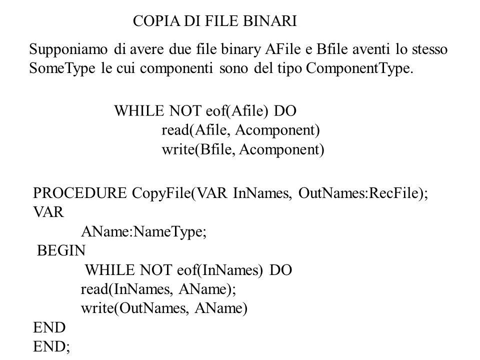 PROGRAM TestChiamatePuntatori; TYPE IntP=^integer; VAR AnIntP:IntP; PROCEDURE ValCall(XP:IntP); BEGIN XP^:=7; END; PROCEDURE VarCall(VAR XP:IntP); BEGIN XP^:=7; END; BEGIN new(AnIntP); AnIntP^:=5; ValCall(AnIntP); writeln(Output=,AnIntp^:1); END.