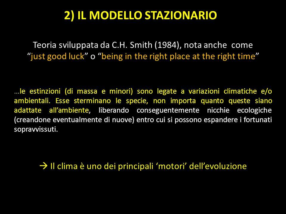 Teoria sviluppata da C.H. Smith (1984), nota anche comejust good luck o being in the right place at the right time …le estinzioni (di massa e minori)
