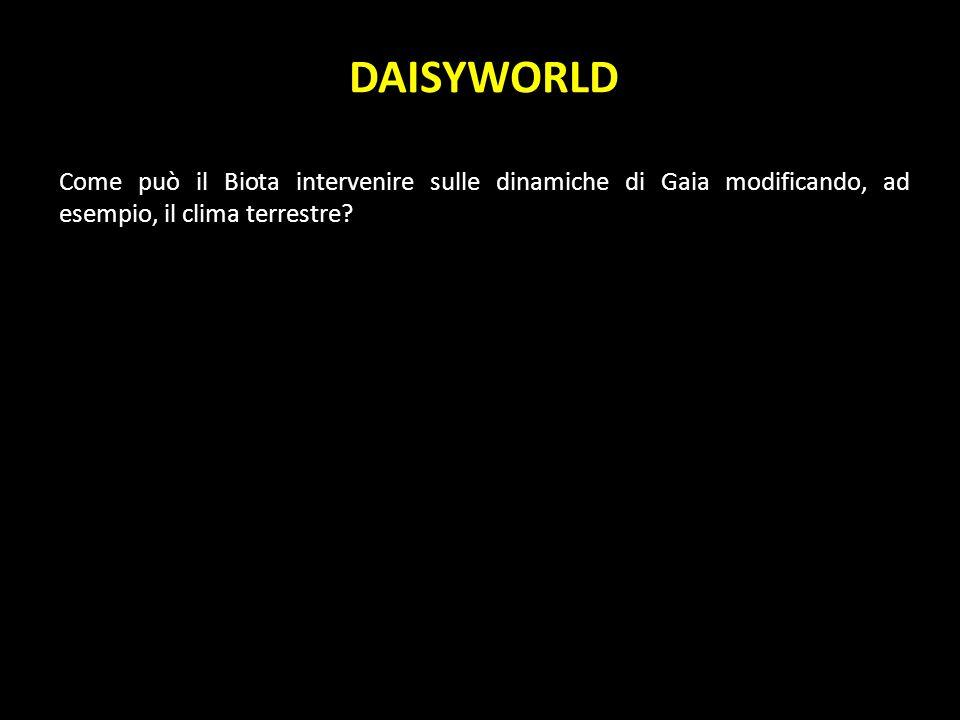 DAISYWORLD Come può il Biota intervenire sulle dinamiche di Gaia modificando, ad esempio, il clima terrestre?