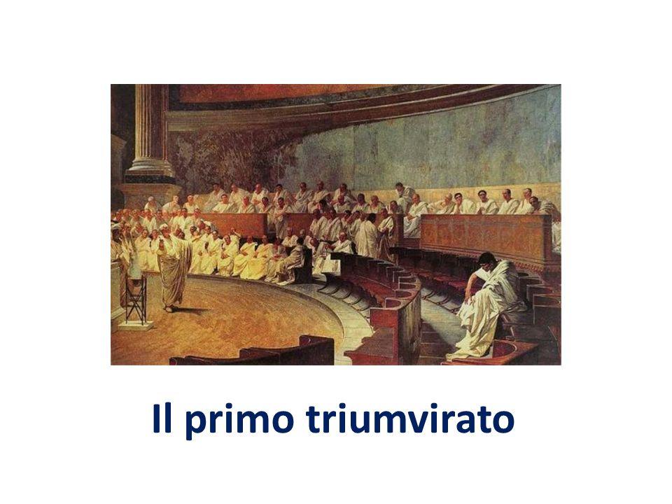 Pompeo e Crasso Gneo Pompeo (106-48 a.C.) Giovane generale, nel 77 a.C.