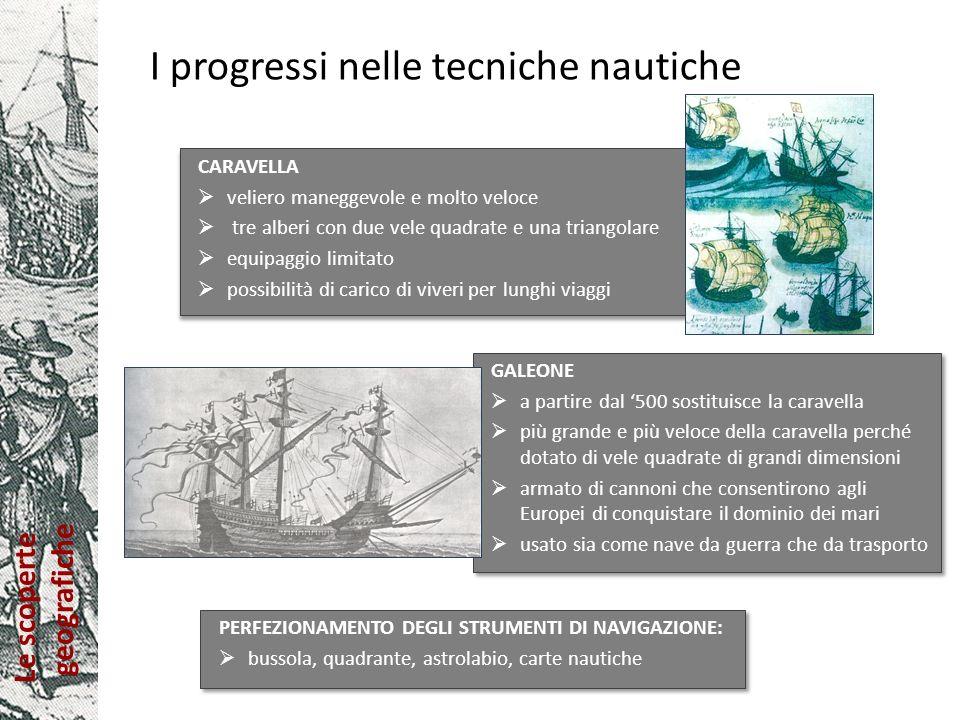 Le scoperte geografiche Le esplorazioni dei Portoghesi Lobiettivo era la ricerca di un collegamento marittimo con le Indie circumnavigando lAfrica per strappare ai mercanti veneziani il controllo del commercio delle spezie.