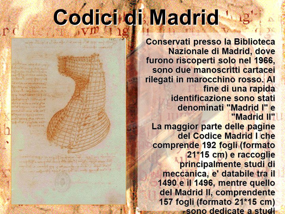 Codici di Madrid Conservati presso la Biblioteca Nazionale di Madrid, dove furono riscoperti solo nel 1966, sono due manoscritti cartacei rilegati in