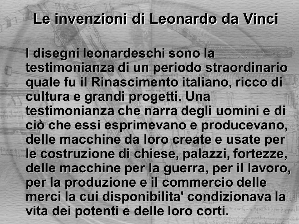 I disegni leonardeschi sono la testimonianza di un periodo straordinario quale fu il Rinascimento italiano, ricco di cultura e grandi progetti. Una te