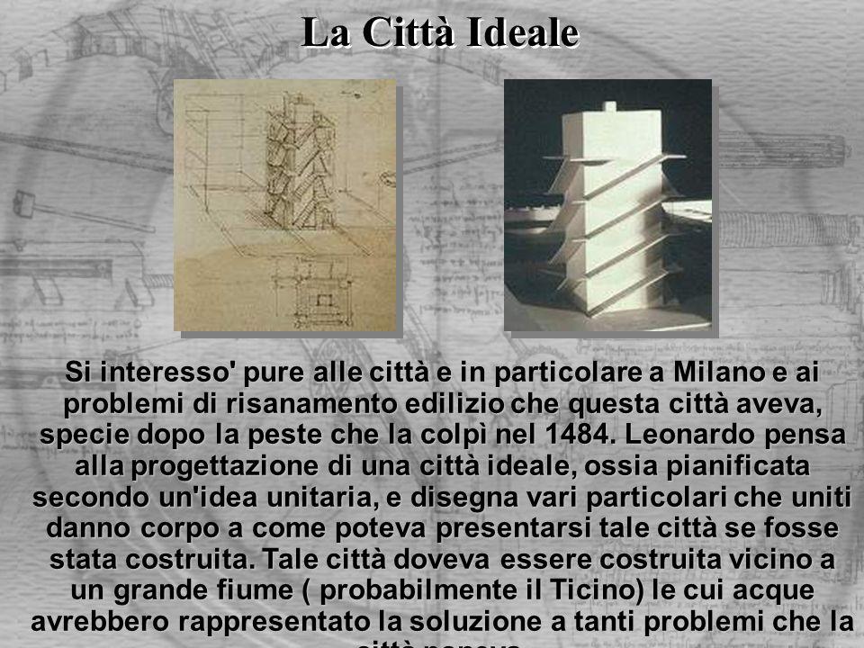 Si interesso' pure alle città e in particolare a Milano e ai problemi di risanamento edilizio che questa città aveva, specie dopo la peste che la colp