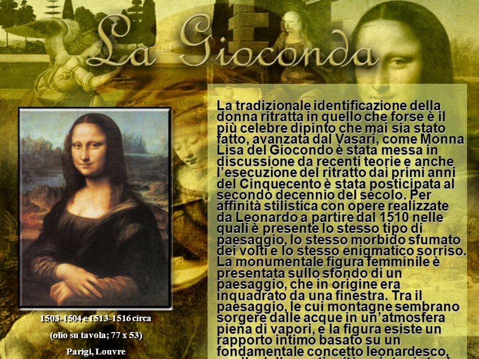 La tradizionale identificazione della donna ritratta in quello che forse è il più celebre dipinto che mai sia stato fatto, avanzata dal Vasari, come M