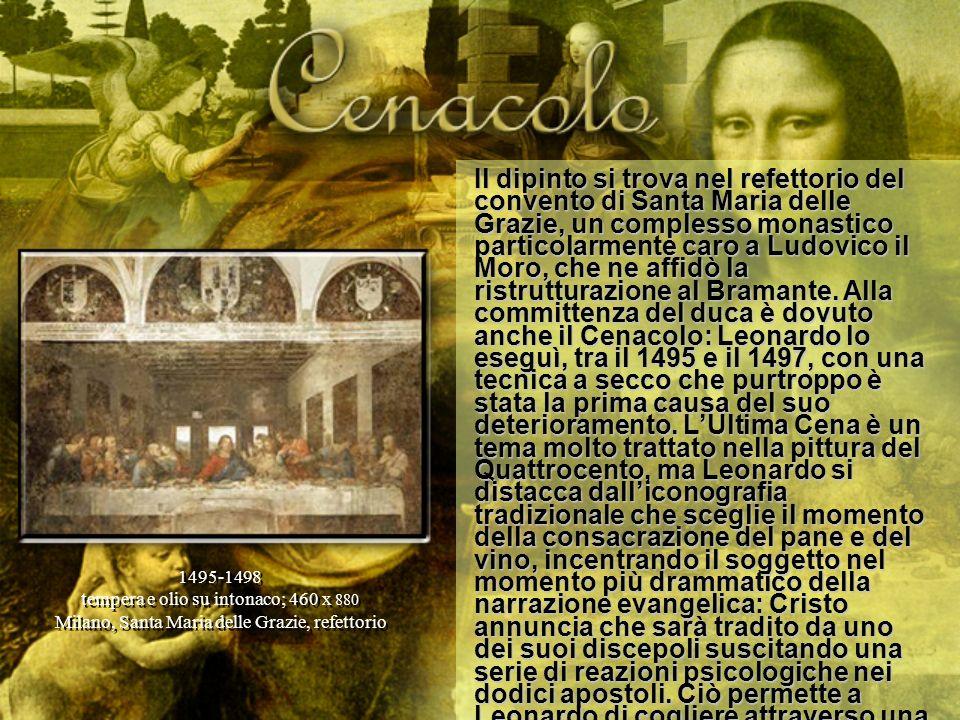 Il dipinto si trova nel refettorio del convento di Santa Maria delle Grazie, un complesso monastico particolarmente caro a Ludovico il Moro, che ne af