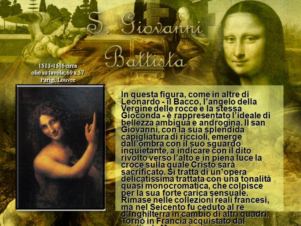 In questa figura, come in altre di Leonardo - il Bacco, langelo della Vergine delle rocce e la stessa Gioconda - è rappresentato lideale di bellezza a