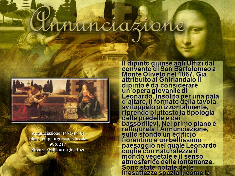 Il dipinto giunse agli Uffizi dal convento di San Bartolomeo a Monte Oliveto nel 1867. Già attribuito al Ghirlandaio il dipinto è da considerare unope