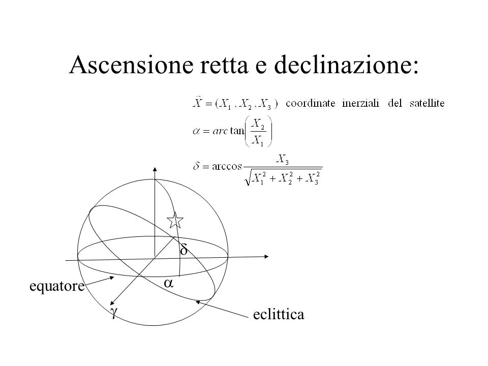 Distanza e Doppler X=coordinate cartesiane inerziali del satellite x=coordinate cartesiane inerziali della stazione X x