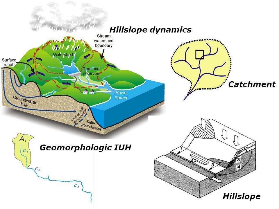 Hillslope dynamics Catchment Hillslope Geomorphologic IUH