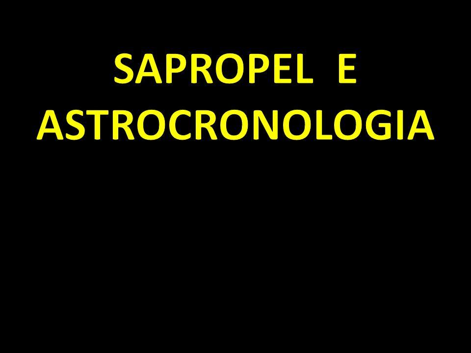 CRONOLOGIA BASATA SUI SAPROPEL