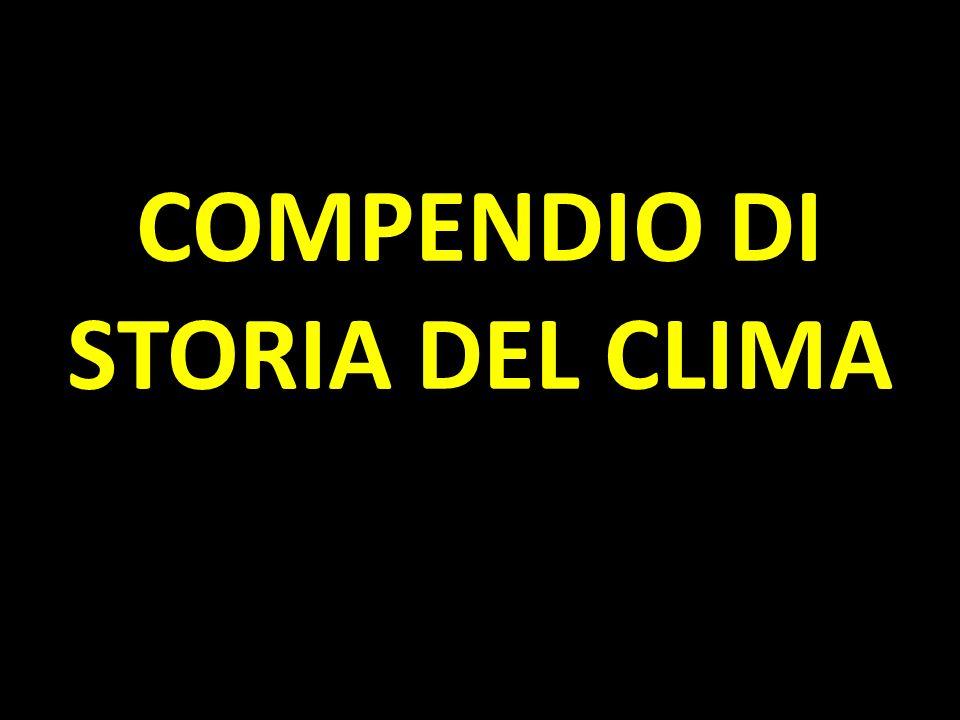 COMPENDIO DI STORIA DEL CLIMA