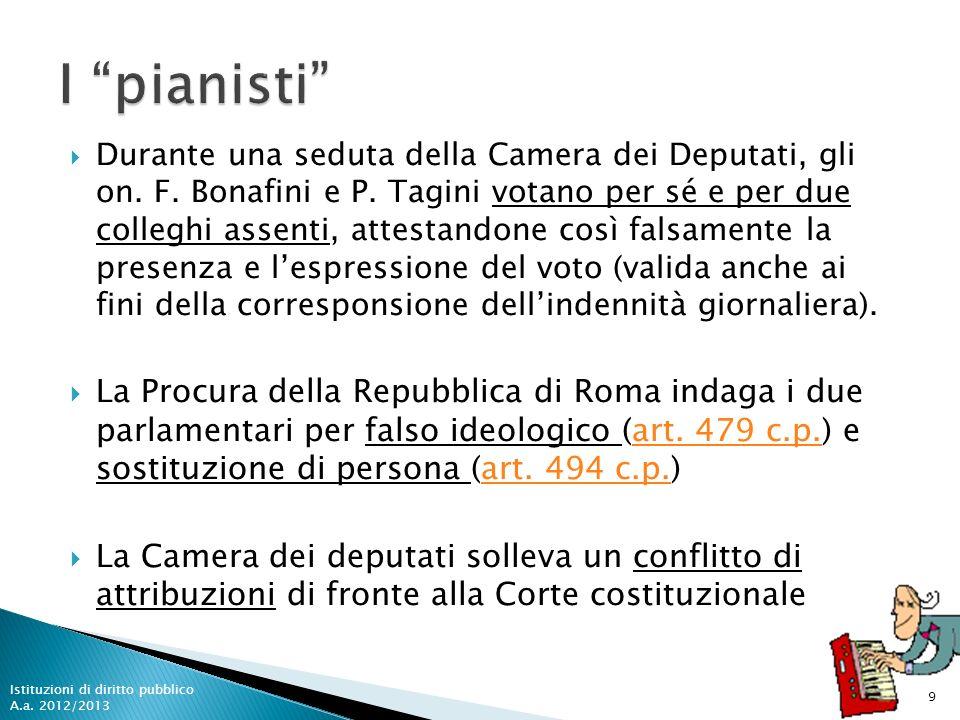 Durante una seduta della Camera dei Deputati, gli on. F. Bonafini e P. Tagini votano per sé e per due colleghi assenti, attestandone così falsamente l