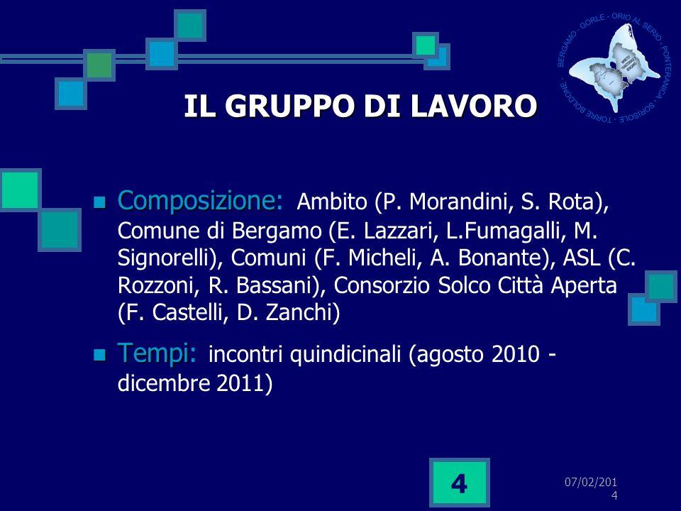 07/02/2014 5 CRITERI GUIDA IL SERVIZIO LA FAMIGLIA IL CAMBIAMENTO