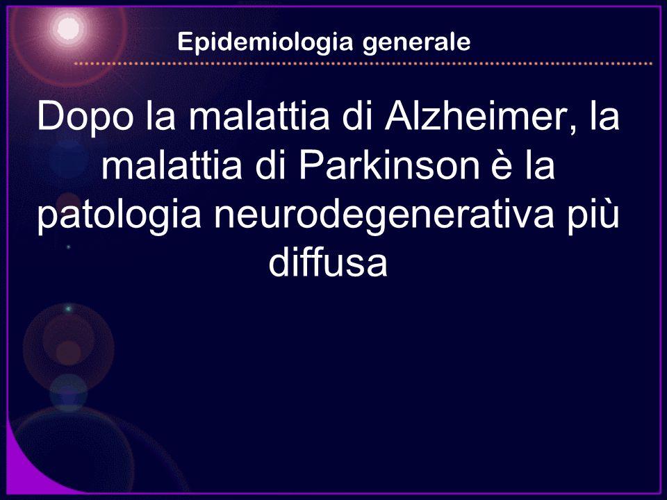 Dopo la malattia di Alzheimer, la malattia di Parkinson è la patologia neurodegenerativa più diffusa Epidemiologia generale