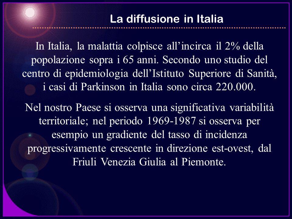 In Italia, la malattia colpisce allincirca il 2% della popolazione sopra i 65 anni. Secondo uno studio del centro di epidemiologia dellIstituto Superi