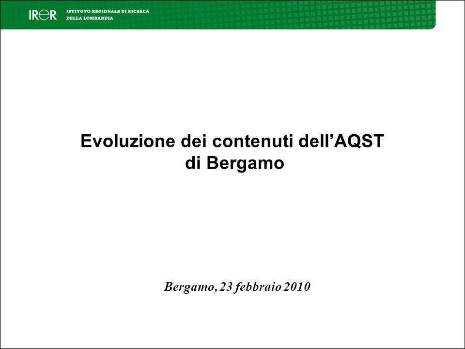 Evoluzione dei contenuti dellAQST di Bergamo Bergamo, 23 febbraio 2010