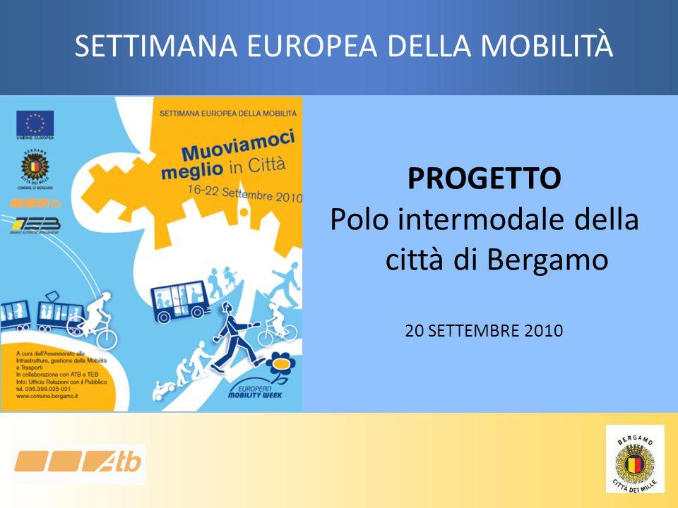 PROGETTO Polo intermodale della città di Bergamo 20 SETTEMBRE 2010 SETTIMANA EUROPEA DELLA MOBILITÀ