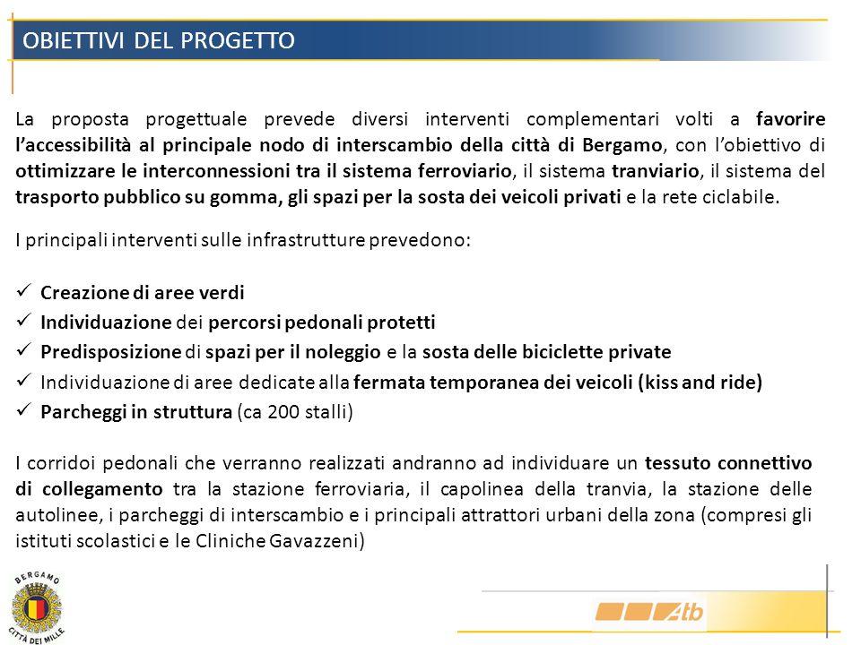 La proposta progettuale prevede diversi interventi complementari volti a favorire laccessibilità al principale nodo di interscambio della città di Ber