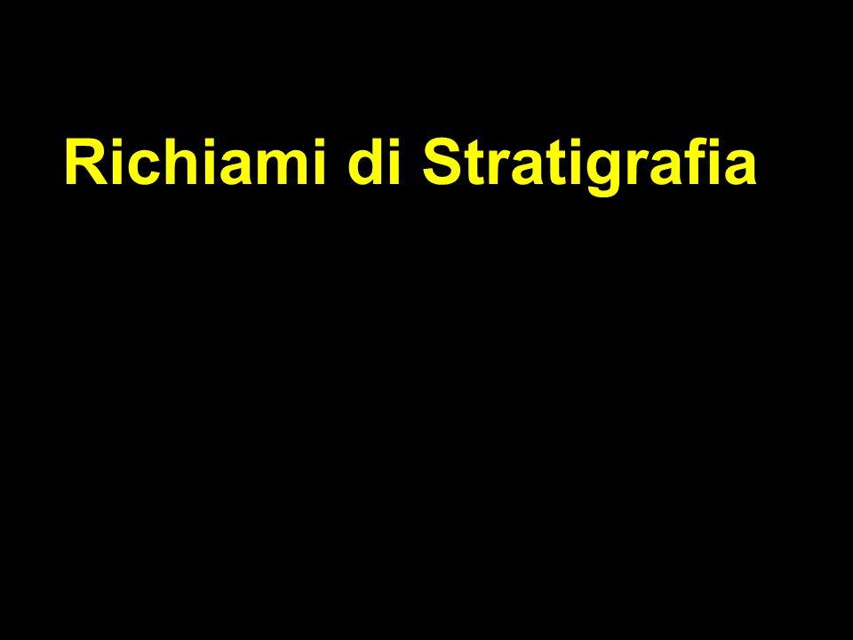 La stratigrafia è la disciplina delle S.d.T che studia i rapporti (verticali e laterali) fra unità rocciose distinte Base della stratigrafia è il Principio di sovrapposizione di Stenone: in una successione sedimentaria indisturbata, gli strati inferiori sono più antichi di quelli superiori