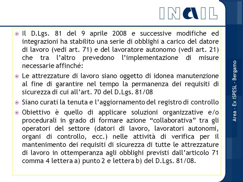 Il D.Lgs. 81 del 9 aprile 2008 e successive modifiche ed integrazioni ha stabilito una serie di obblighi a carico del datore di lavoro (vedi art. 71)
