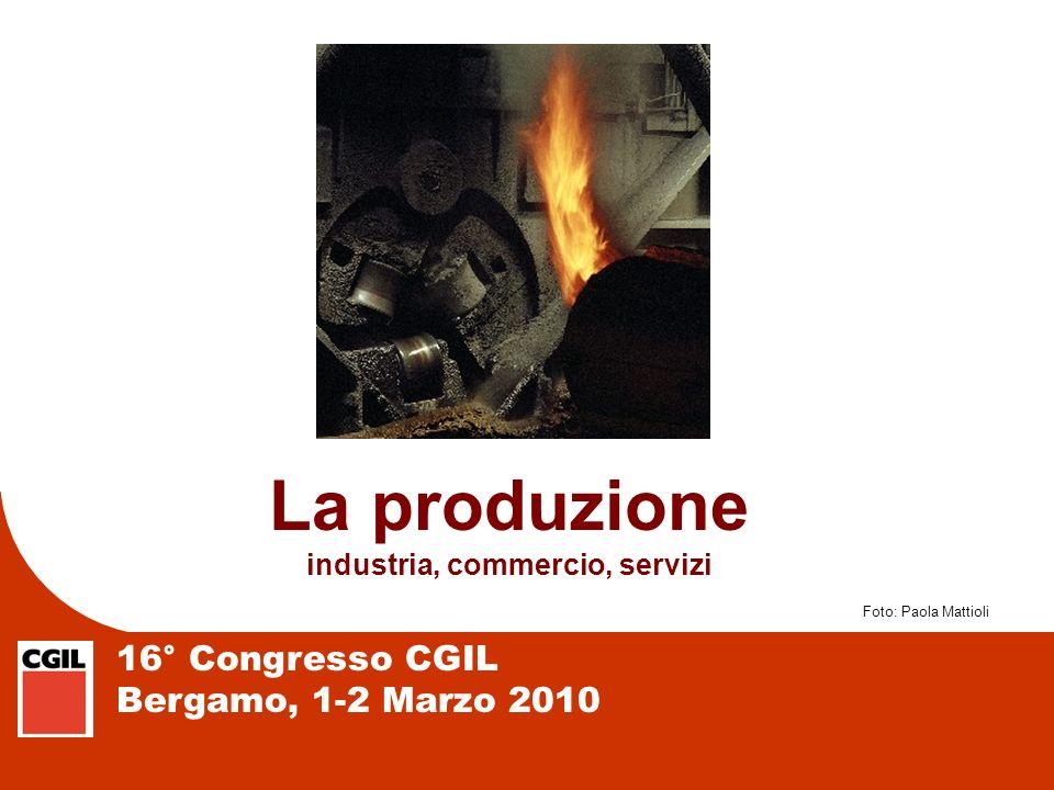 16° Congresso CGIL Bergamo, 1-2 Marzo 2010 PRODUZIONE: UN CALO GENERALIZZATO Produzione industriale in Lombardia e province.