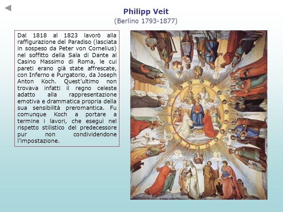 Dal 1818 al 1823 lavorò alla raffigurazione del Paradiso (lasciata in sospeso da Peter von Cornelius) nel soffitto della Sala di Dante al Casino Massi