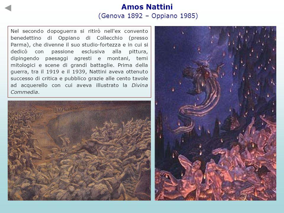 Amos Nattini (Genova 1892 – Oppiano 1985) Nel secondo dopoguerra si ritirò nell'ex convento benedettino di Oppiano di Collecchio (presso Parma), che d