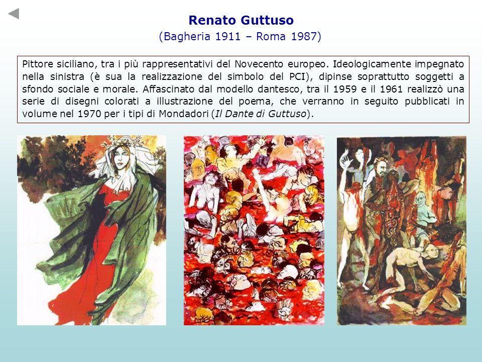 Renato Guttuso (Bagheria 1911 – Roma 1987) Pittore siciliano, tra i più rappresentativi del Novecento europeo. Ideologicamente impegnato nella sinistr